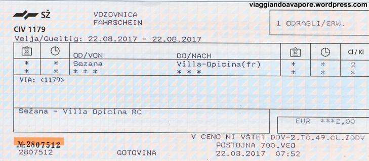 biglettoint sezana opicina 2017